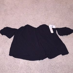 Gianni Bini Off The Shoulder Crop Top, Sz L, Tags
